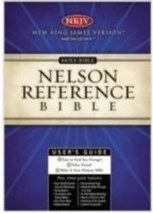 NKJV, Reference Bible, Ultraslim, Bonded Leather, Black, Red Letter Edition als Buch