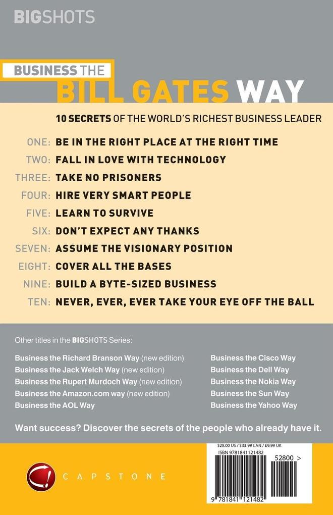 Business the Bill Gates Way als Buch