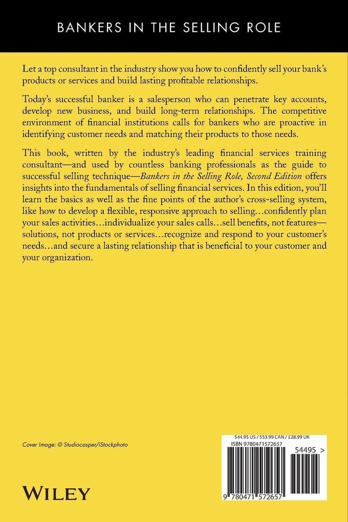 Bankers in the Selling Role: A Consultative Guide to Cross-Selling Financial Services als Taschenbuch