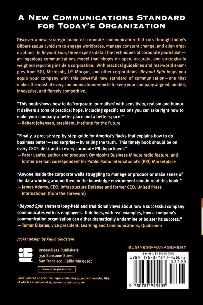 Beyond Spin: The Power of Strategic Corporate Journalism als Taschenbuch