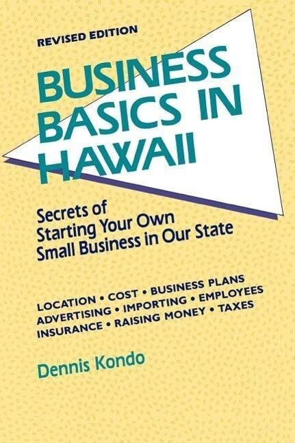 Business Basics in Hawaii REV. Ed. als Taschenbuch