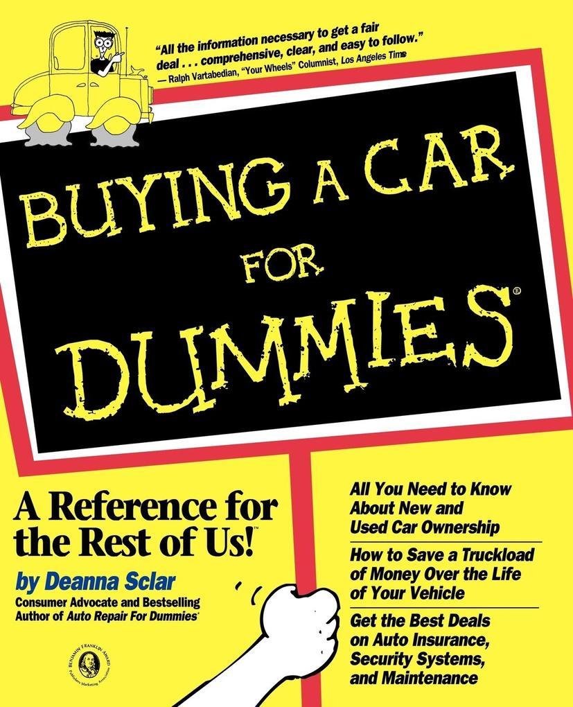 Buying a Car For Dummies als Taschenbuch