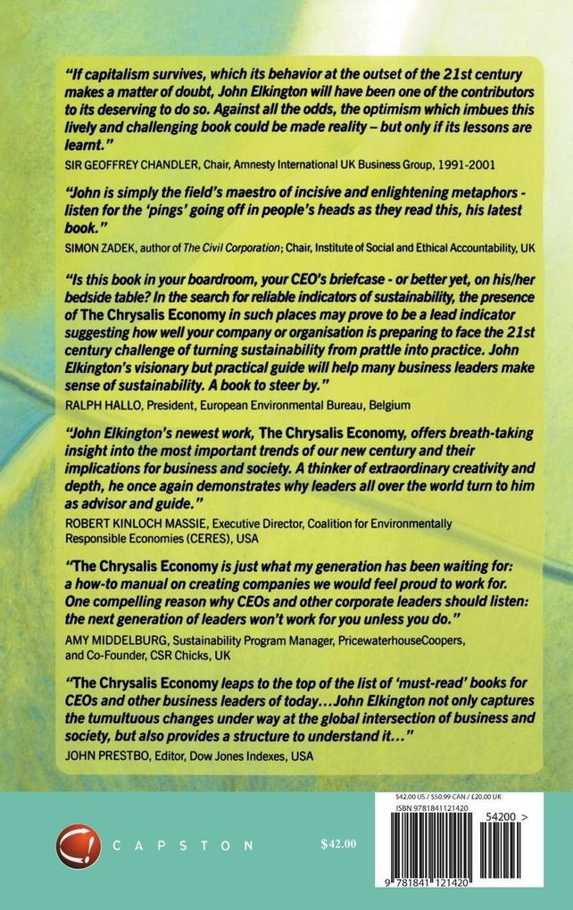 The Chrysalis Economy: How Citizen Ceos and Corporations Can Fuse Values and Value Creation als Buch