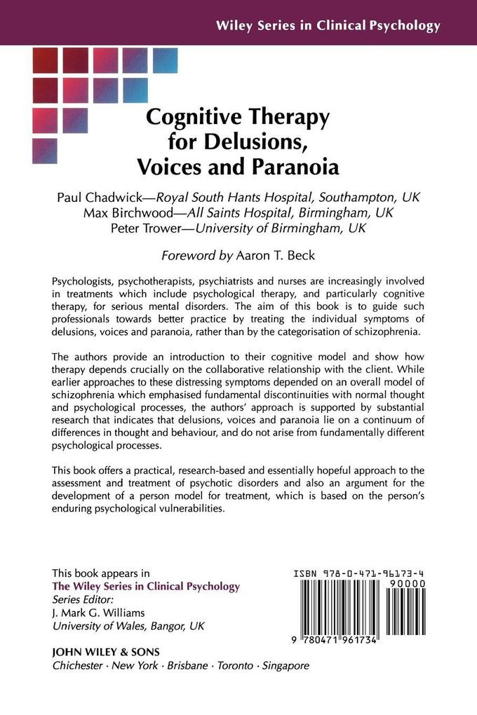 Cognitive Therapy for Delusions, Voices and Paranoia als Buch