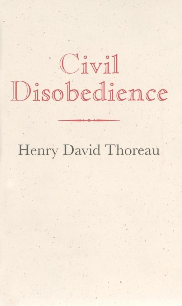 Civil Disobedience als Buch
