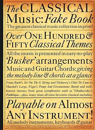 The Classical Music Fake Book als Taschenbuch