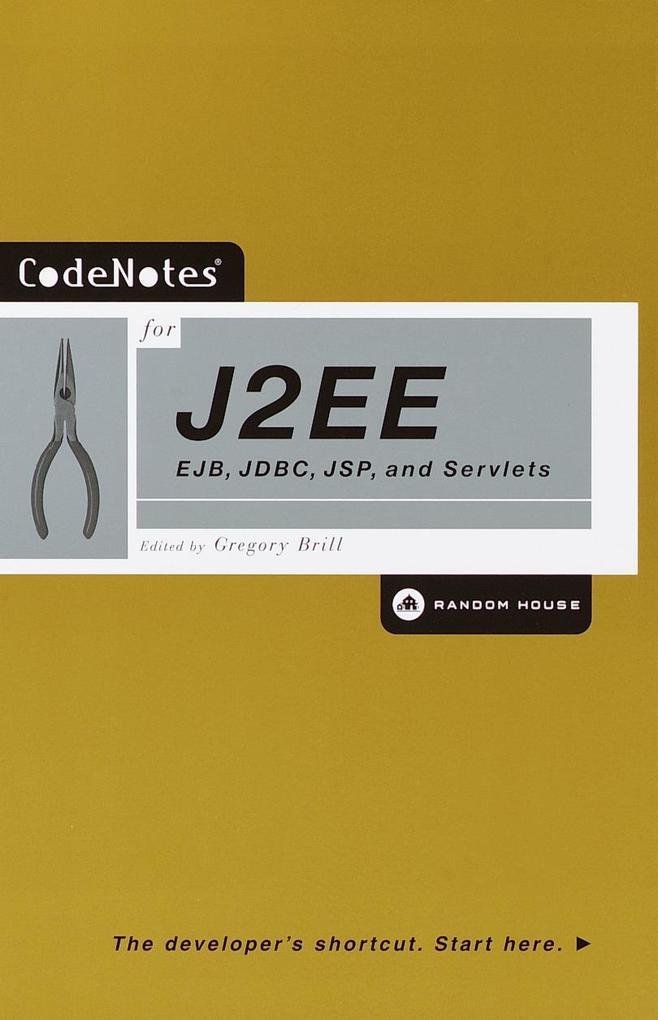 Codenotes for J2ee: Ejb, JDBC, JSP, and Servlets als Taschenbuch