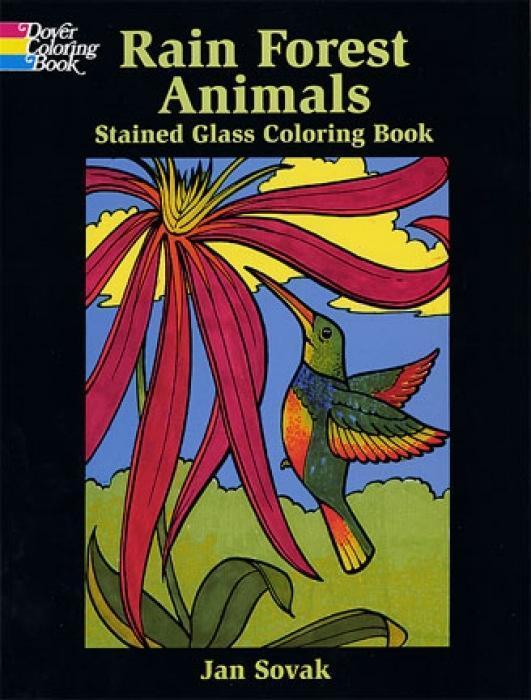 Rain Forest Wildlife Stained Glass Coloring Book als Taschenbuch