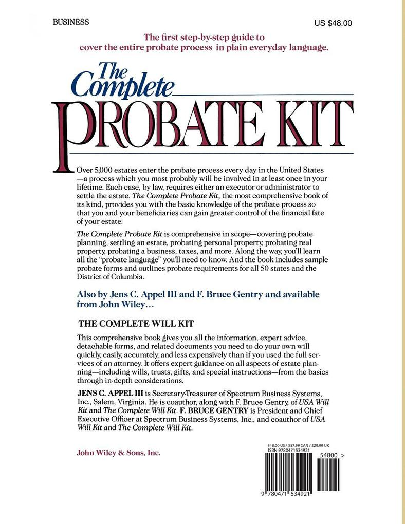 The Complete Probate Kit als Taschenbuch