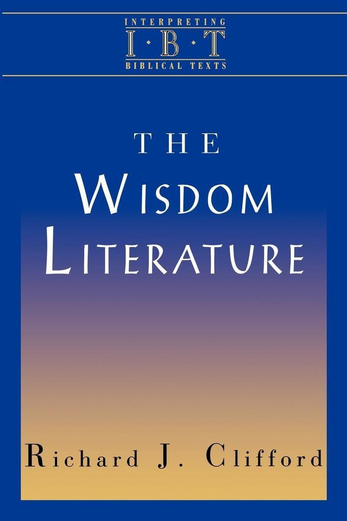 The Wisdom Literature als Taschenbuch