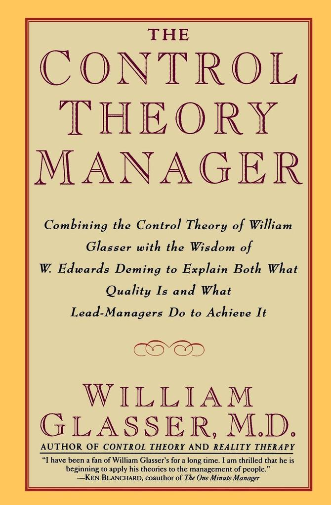 The Control Theory Manager als Taschenbuch