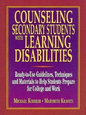 Counseling Secondary Students W/Learning Disabilities als Taschenbuch