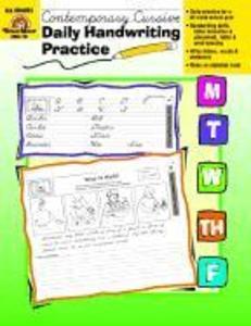 Daily Handwriting Practice, Traditional Cursive als Taschenbuch