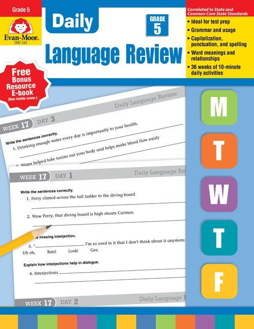 Daily Language Review, Grade 5 als Taschenbuch