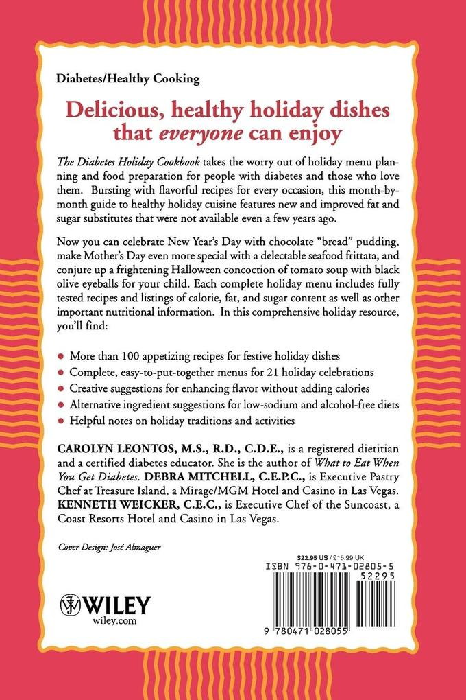 The Diabetes Holiday Cookbook: Year-Round Cooking for People with Diabetes als Taschenbuch