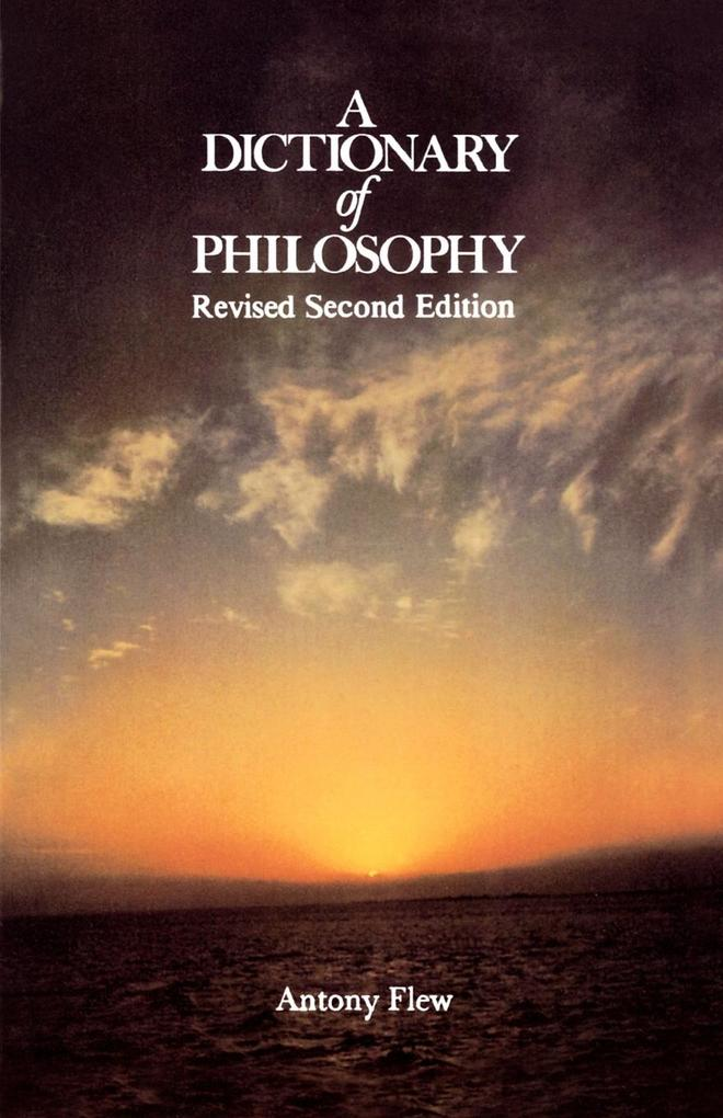 A Dictionary of Philosophy als Taschenbuch