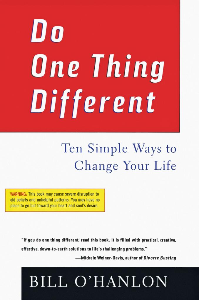Do One Thing Different als Buch