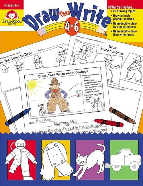 Draw Then Write: Grades 4-6 als Taschenbuch