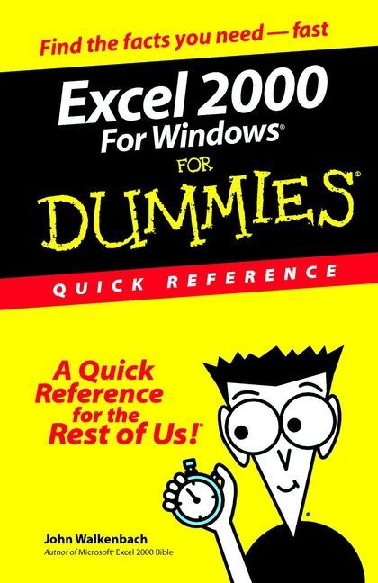 Excel 2000 for Windows for Dummies Quick Reference als Buch