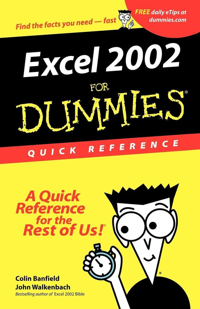 Excel 2002 for Dummies Quick Reference als Buch