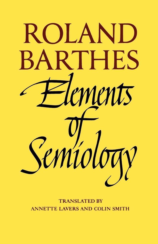 Elements of Semiology als Taschenbuch