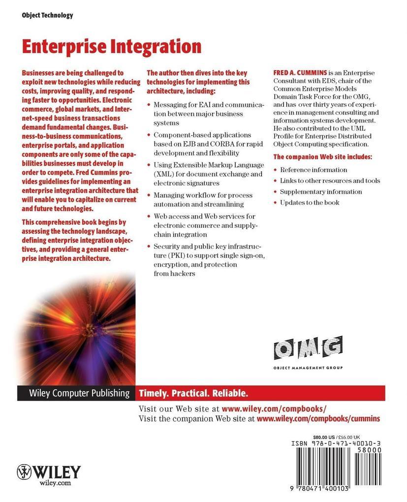 Enterprise Integration: An Architecture for Enterprise Application and Systems Integration als Taschenbuch