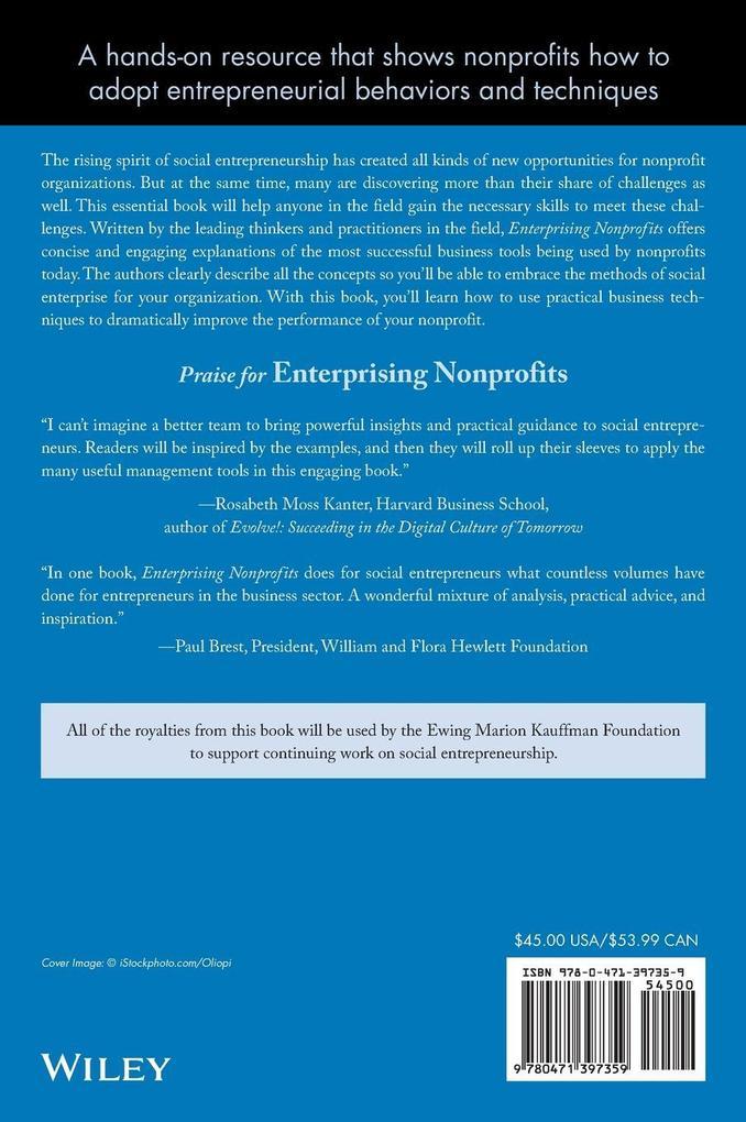 Enterprising Nonprofits: A Toolkit for Social Entrepreneurs als Buch