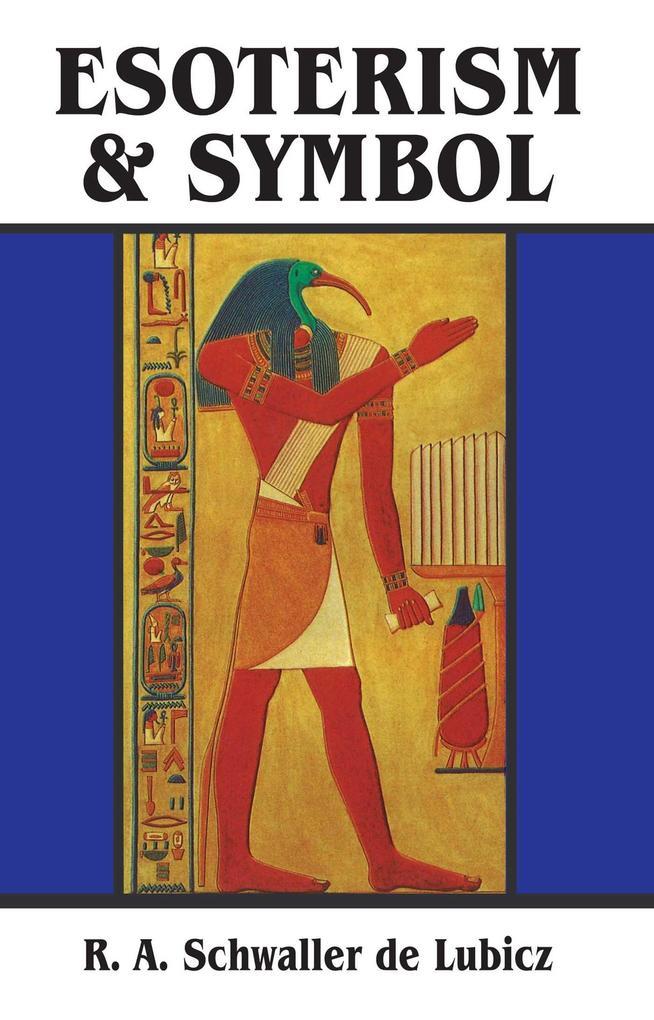 Esoterism and Symbol als Taschenbuch
