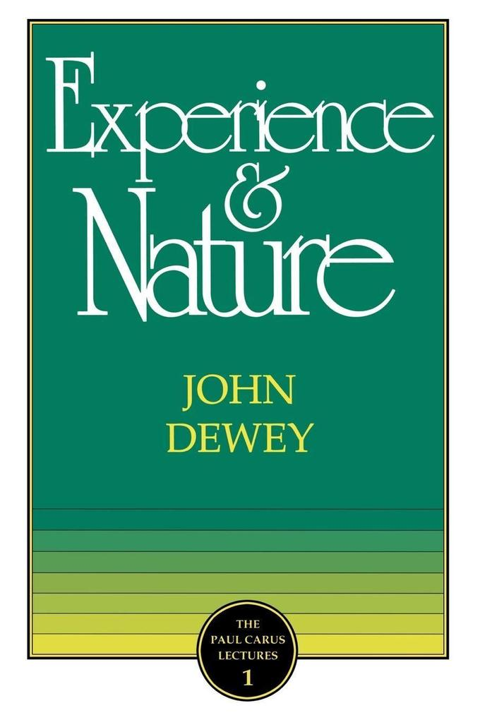 The Experience and Nature als Taschenbuch
