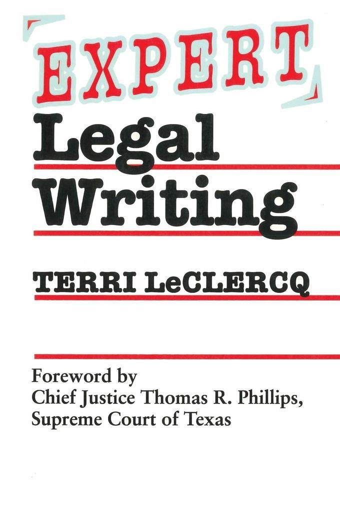 Expert Legal Writing als Taschenbuch