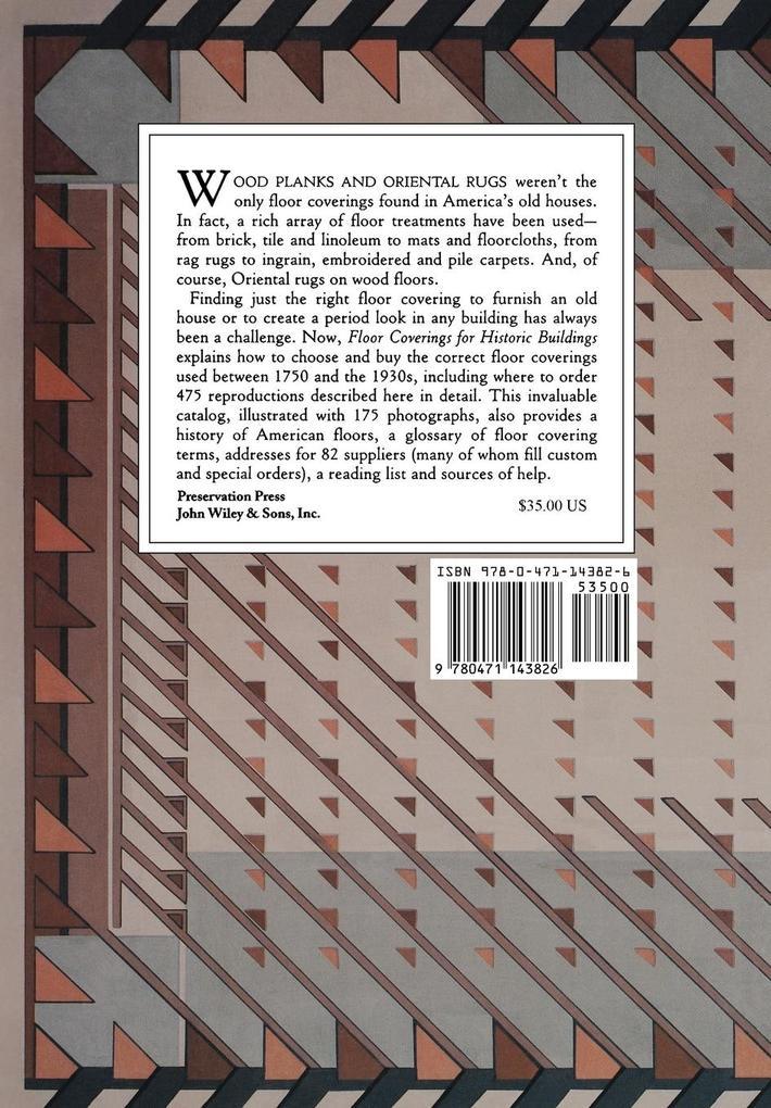 For Historic Buildings, Floor Coverings als Taschenbuch