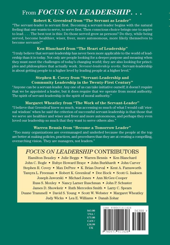 Focus on Leadership: Servant-Leadership for the 21st Century als Buch