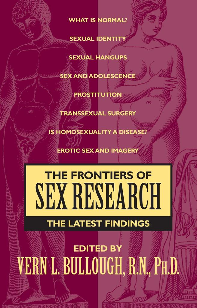 Frontiers of Sex Research als Taschenbuch
