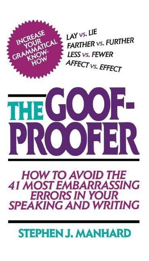 Goof Proofer als Taschenbuch