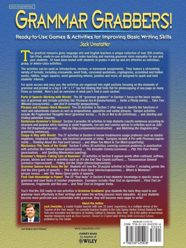Grammar Grabbers!: Ready-To-Use Games and Activities for Improving Basic Writing Skills als Taschenbuch