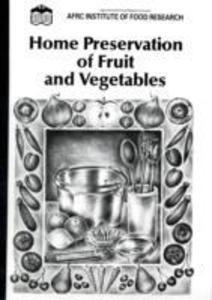 Home Preservation of Fruit and Vegetables als Taschenbuch