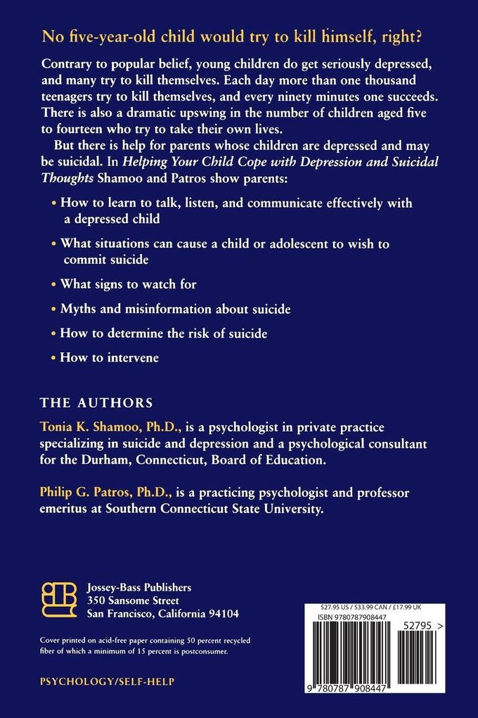 Helping Your Child Cope with Depression and Suicidal Thoughts als Taschenbuch