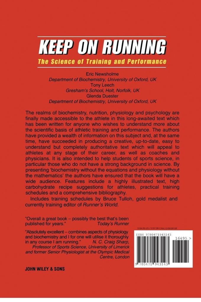Keep on Running: The Science of Training and Performance als Taschenbuch