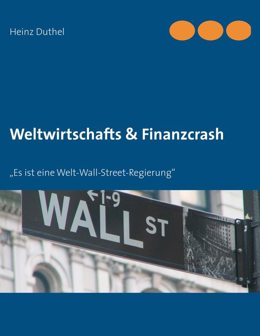 Weltwirtschafts & Finanzcrash als Buch