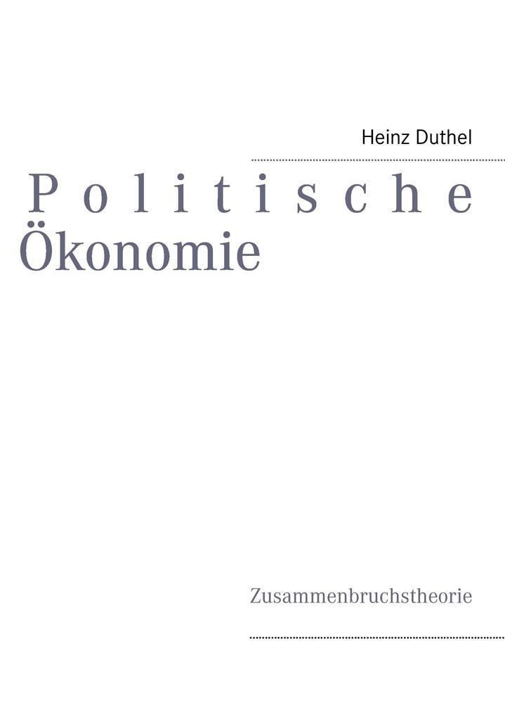 Politische Ökonomie als Buch
