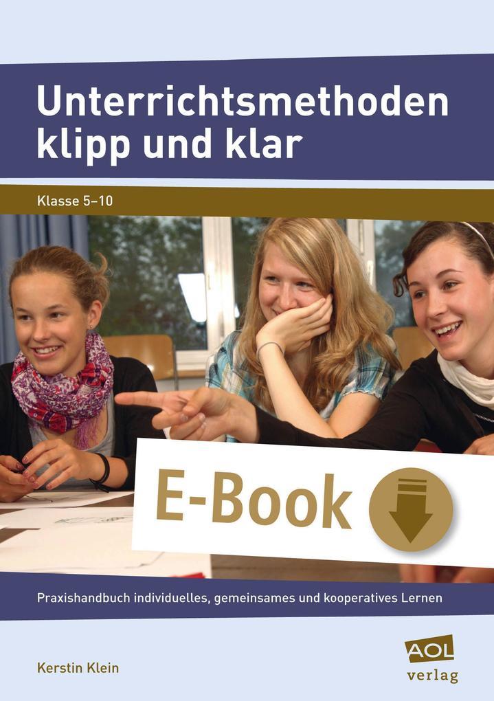 Unterrichtsmethoden klipp und klar als eBook