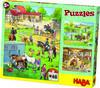 Puzzles Pferdehof. 3 Motive je 48 Teile