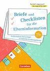 Briefe und Checklisten für die Elterninformation