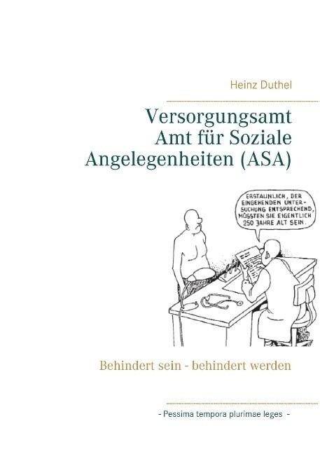 Versorgungsamt - Amt für Soziale Angelegenheiten (ASA) als Buch