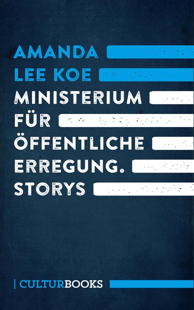 Ministerium für öffentliche Erregung als Buch
