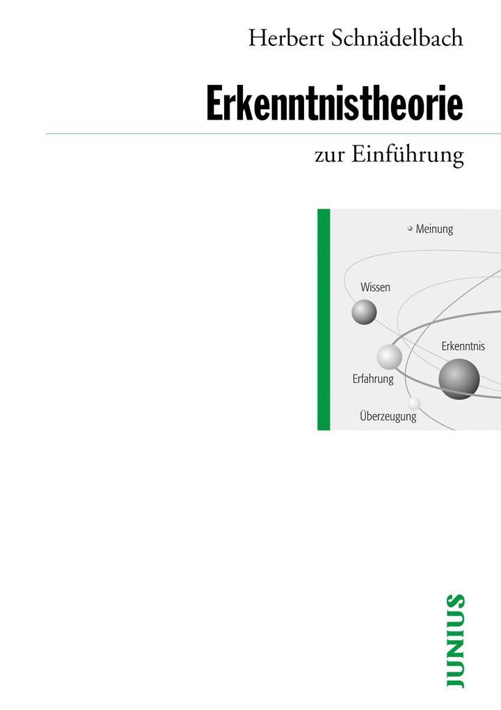 Erkenntnistheorie zur Einführung als eBook