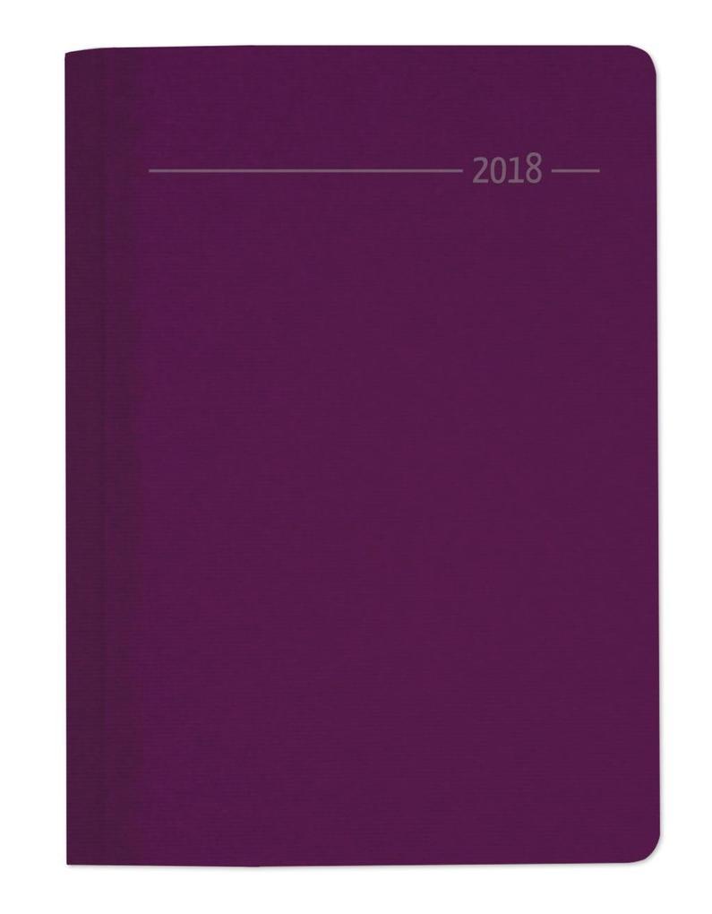 Buchkalender Silk Line Sapphire 2018 - Bürokalender A5 als Kalender
