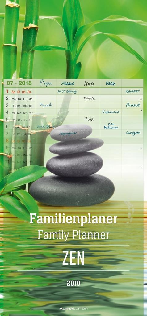 Familienplaner ZEN 2018 als Kalender
