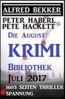 Die August Krimi Bibliothek 2017: 1603 Seiten Thriller Spannung