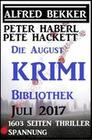 Die August Krimi Bibliothek 2017 - 1603 Seiten Thriller Spannung